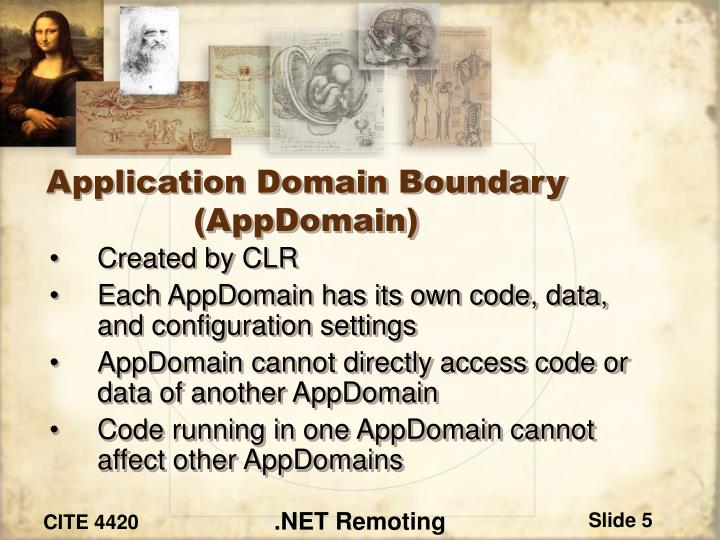 Application Domain Boundary