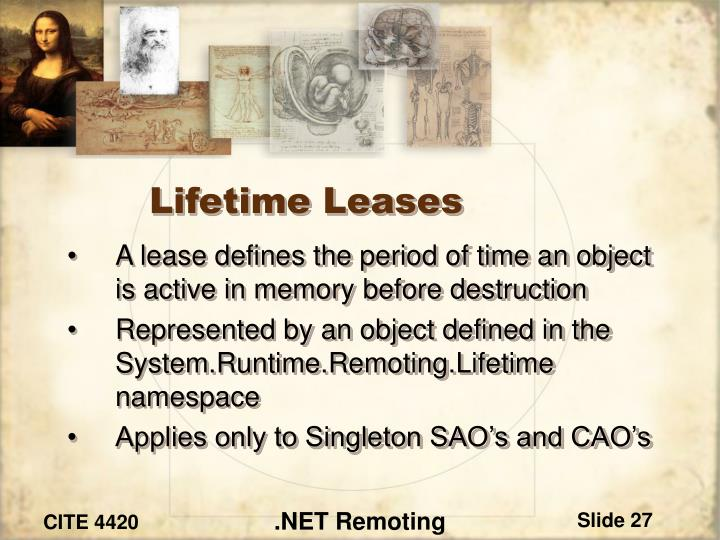 Lifetime Leases