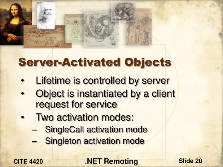Server-Activated Objects