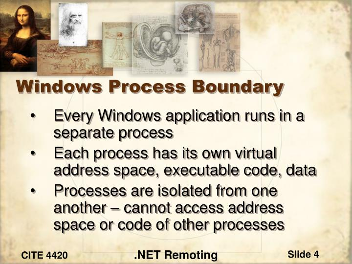 Windows Process Boundary