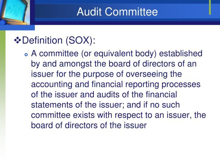 Audit Committee