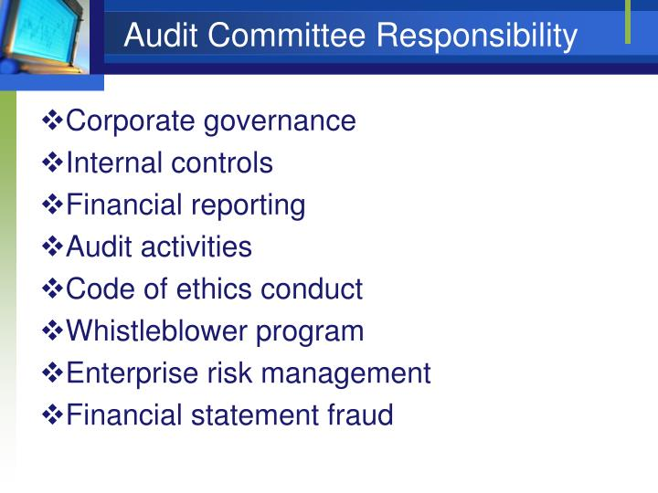 Audit Committee Responsibility