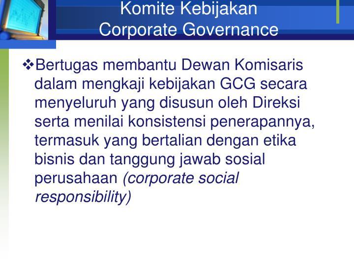 Komite Kebijakan