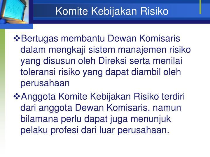 Komite Kebijakan Risiko