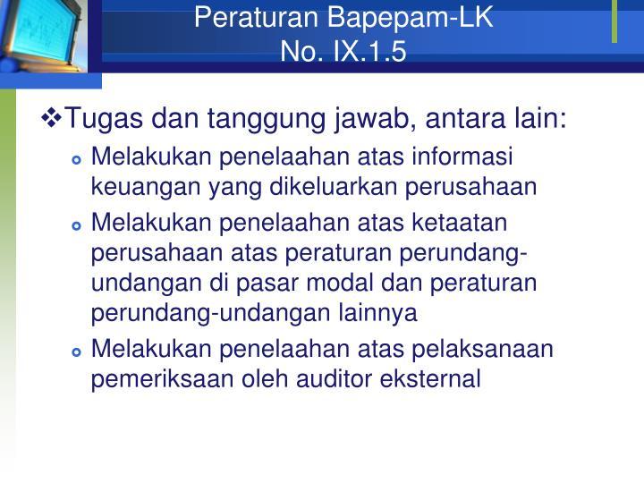Peraturan Bapepam-LK