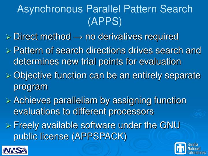 Asynchronous Parallel Pattern Search (APPS)