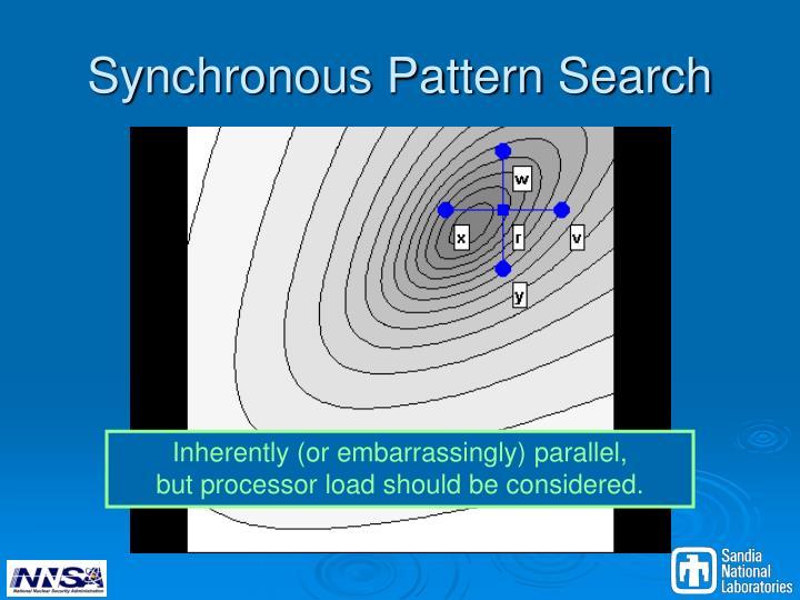 Synchronous Pattern Search