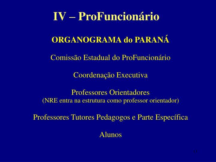 IV – ProFuncionário