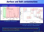 surface and bulk contaminations