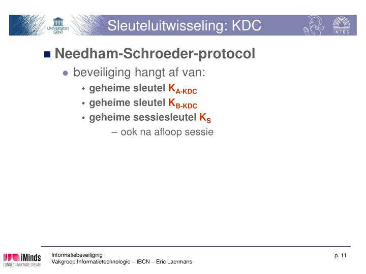 Sleuteluitwisseling: KDC