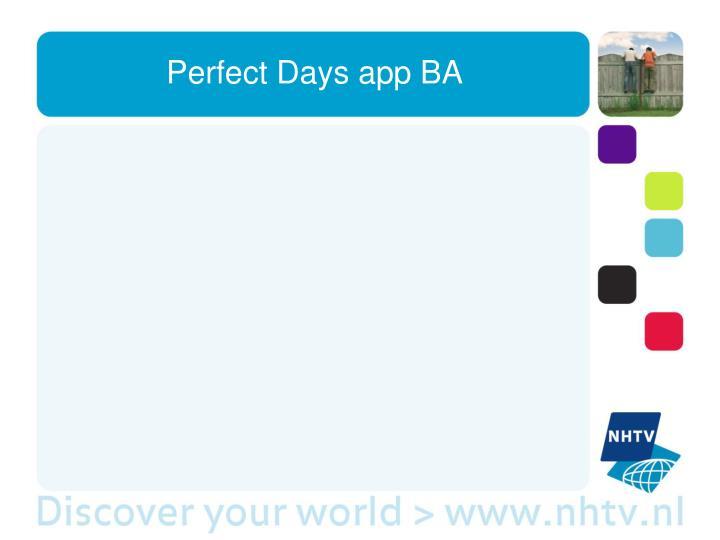 Perfect Days app BA