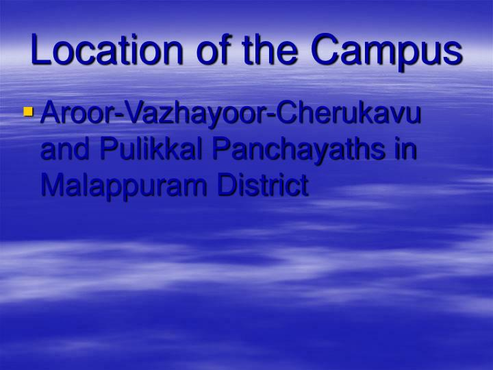 Location of the Campus