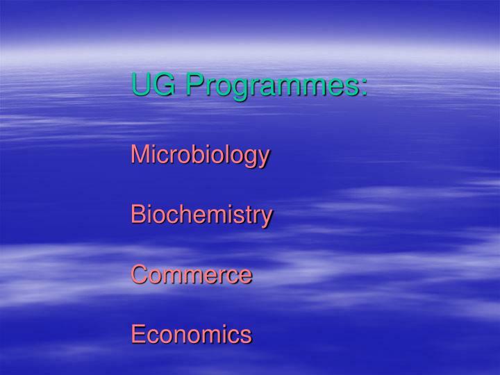 UG Programmes: