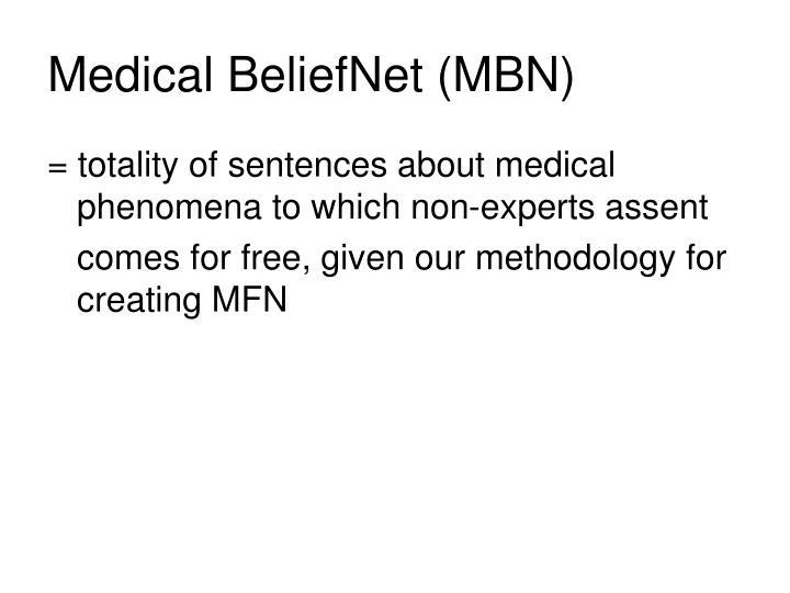 Medical BeliefNet (MBN)