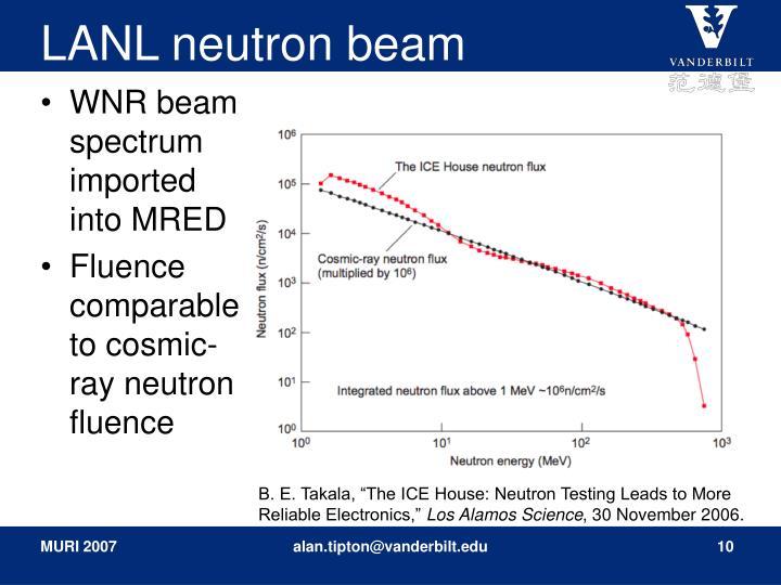 LANL neutron beam
