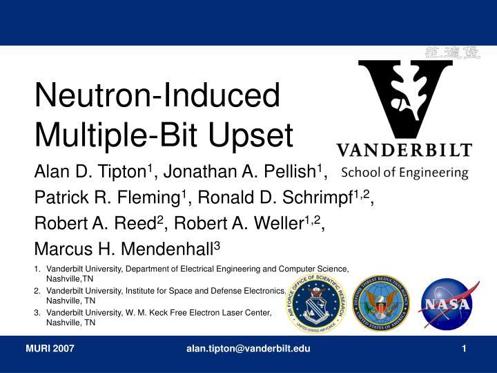 neutron induced multiple bit upset
