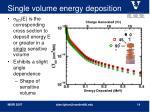 single volume energy deposition
