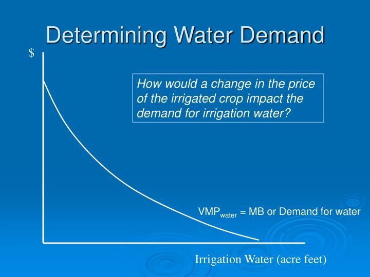 Determining Water Demand