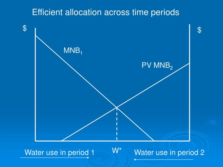 Efficient allocation across time periods