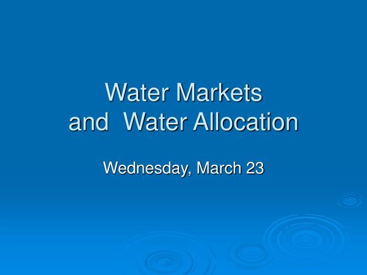 Water Markets