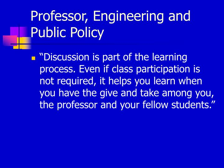 Professor, Engineering and Public Policy
