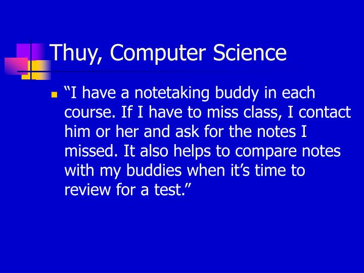 Thuy, Computer Science