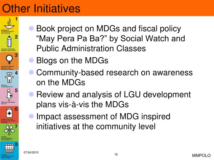 Other Initiatives