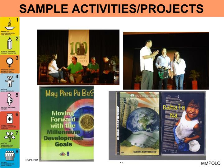 SAMPLE ACTIVITIES/PROJECTS