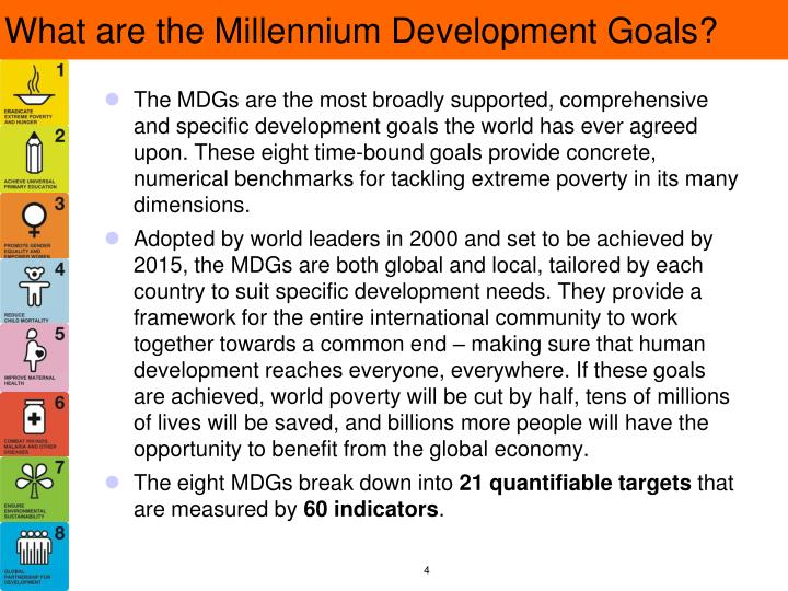What are the Millennium Development Goals?