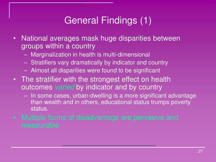 General Findings (1)