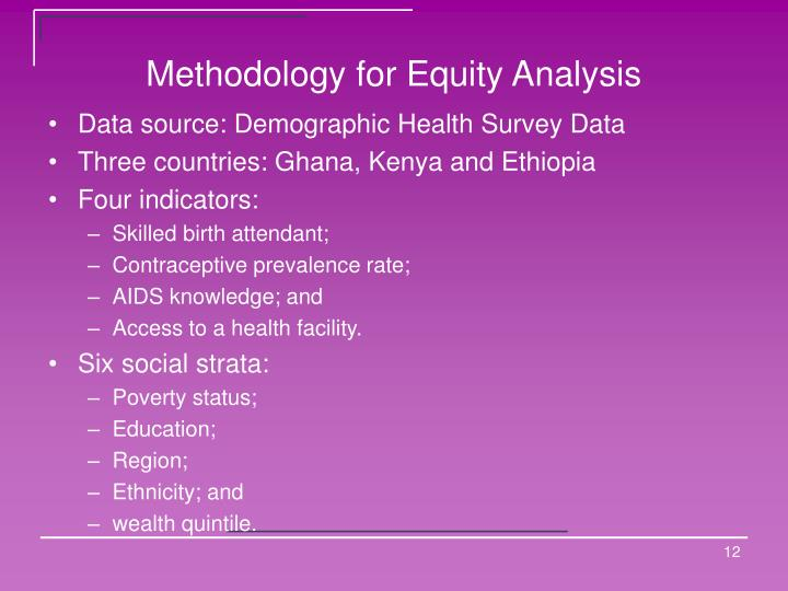 Methodology for Equity Analysis