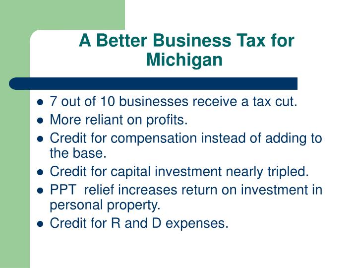 A Better Business Tax for Michigan