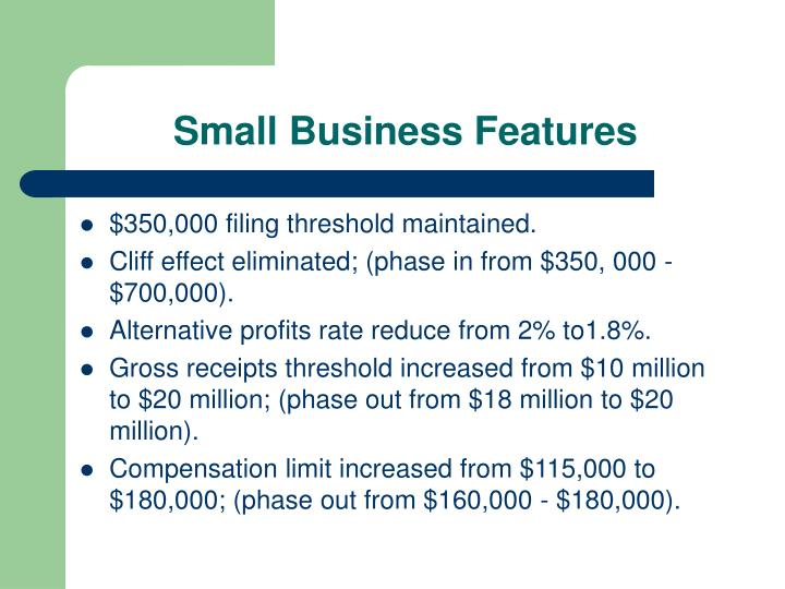 Small Business Features