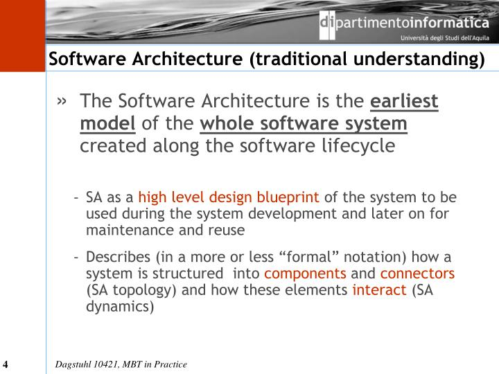 Software architecture traditional understanding