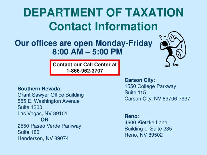 DEPARTMENT OF TAXATION