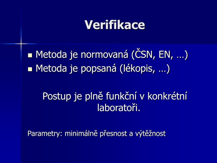 Verifikace