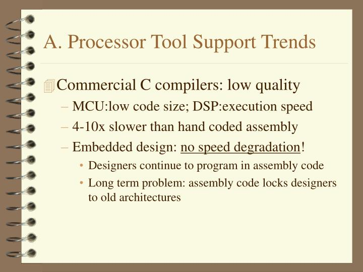 A. Processor Tool Support Trends