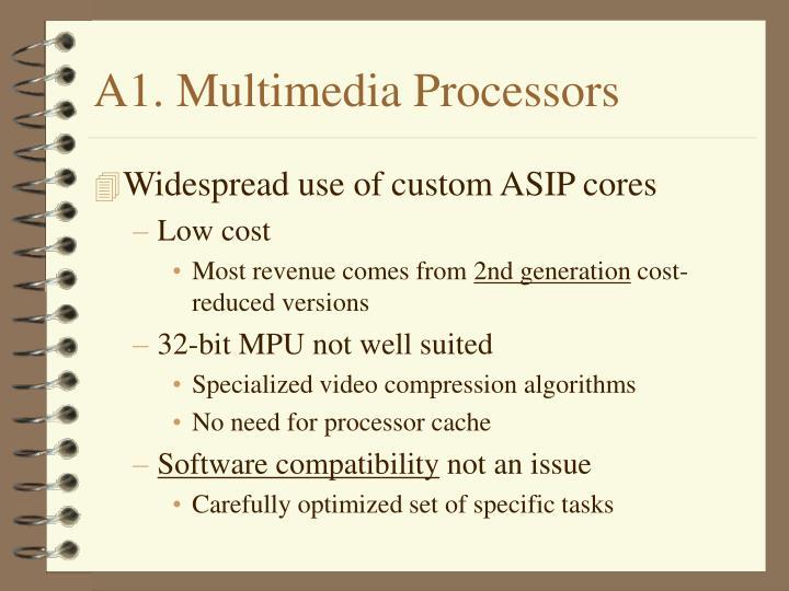 A1. Multimedia Processors