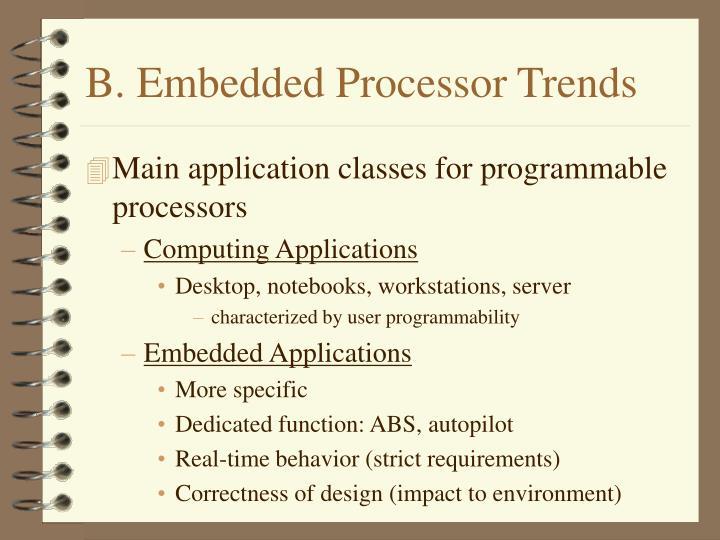 B. Embedded Processor Trends