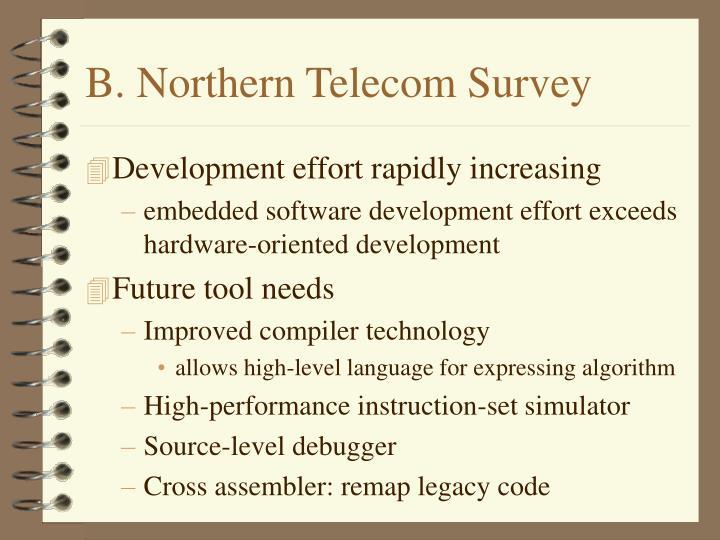 B. Northern Telecom Survey