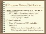 b processor volume distributions
