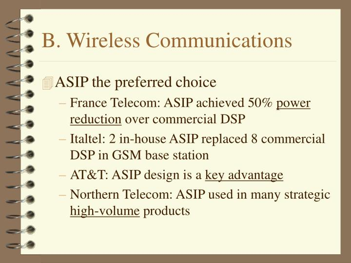 B. Wireless Communications