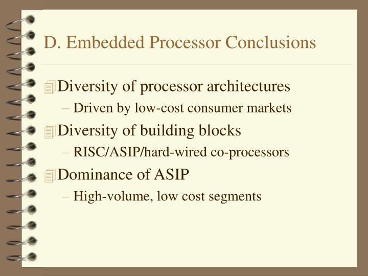 D. Embedded Processor Conclusions