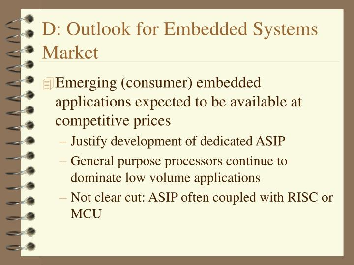 D: Outlook for Embedded Systems Market
