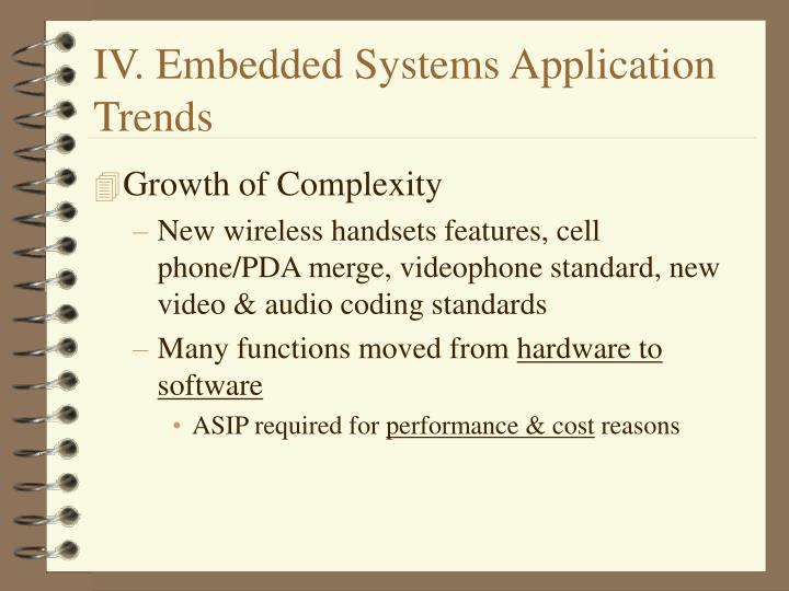 IV. Embedded Systems Application Trends