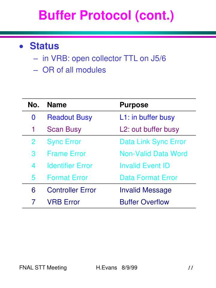 Buffer Protocol (cont.)