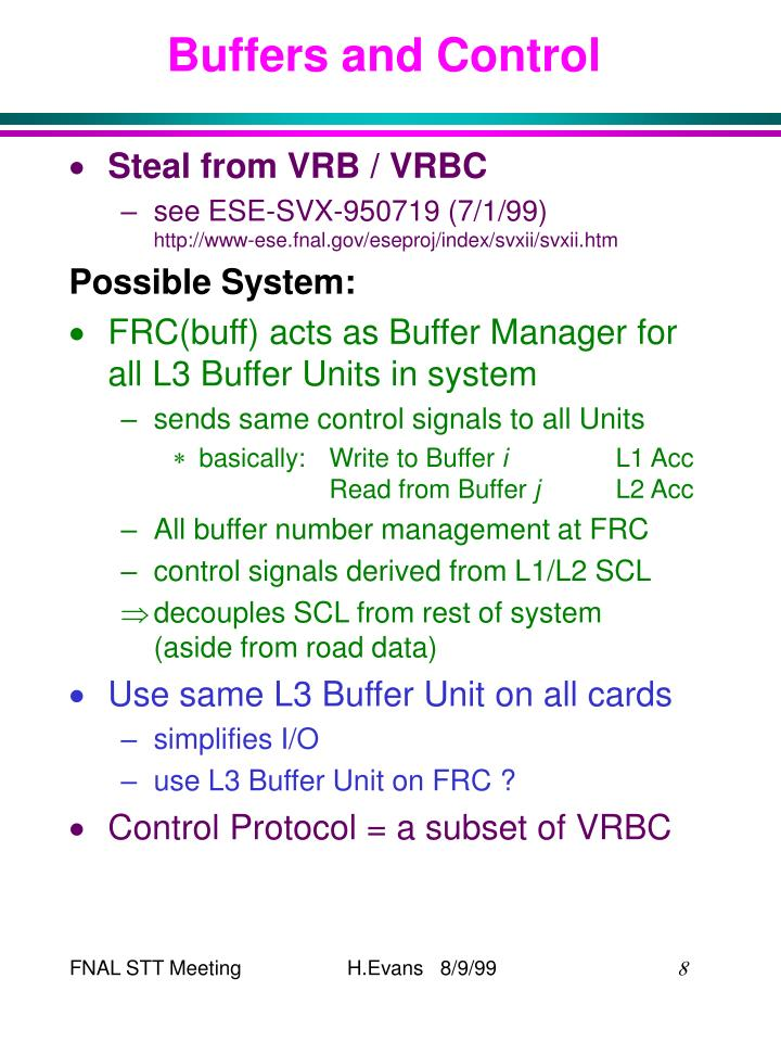 Buffers and Control