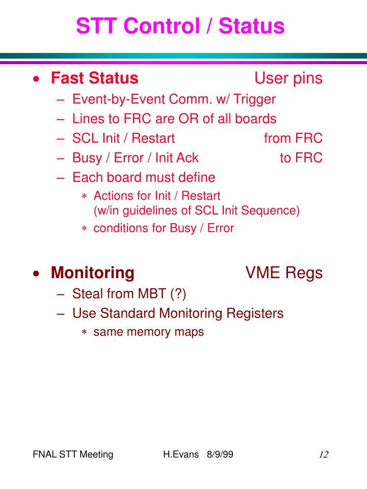 STT Control / Status