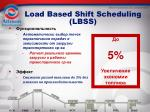 load based shift scheduling lbss