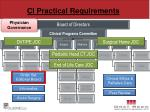 ci practical requirements